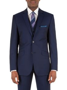 Alexandre of England Wool Twill Tailored Fit Suit Jacket