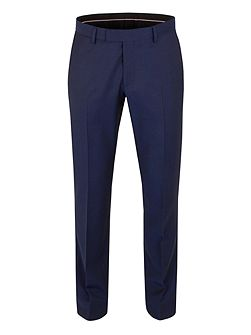 Wool Twill Tailored Fit Suit Trousers