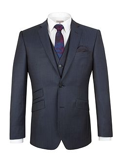 Wool/Mohair Tailored Fit Suit Jacket