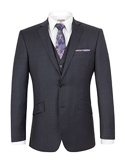 Wool Overcheck Tailored Fit Suit Jacket