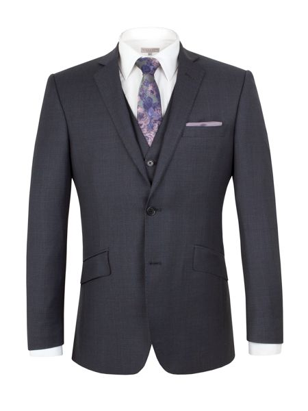 Alexandre of England Wool Overcheck Tailored Fit Suit Jacket