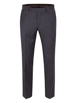 Wool Overcheck Tailored Fit Suit Trouser