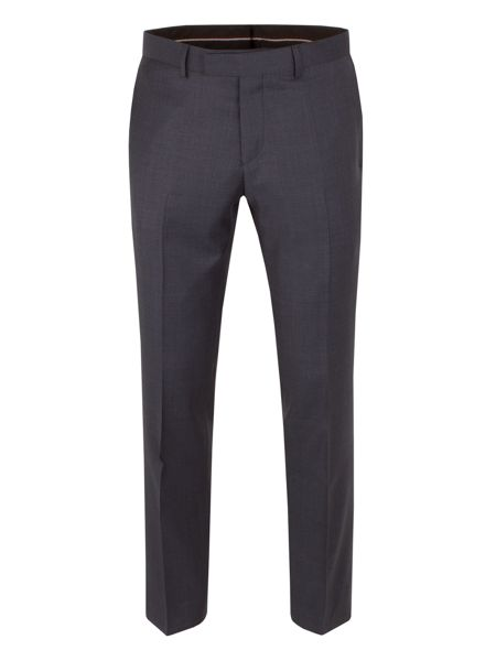 Alexandre of England Wool Overcheck Tailored Fit Suit Trouser