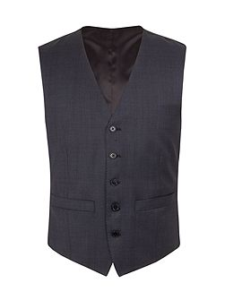 Wool Overcheck Tailored Fit Waistcoat