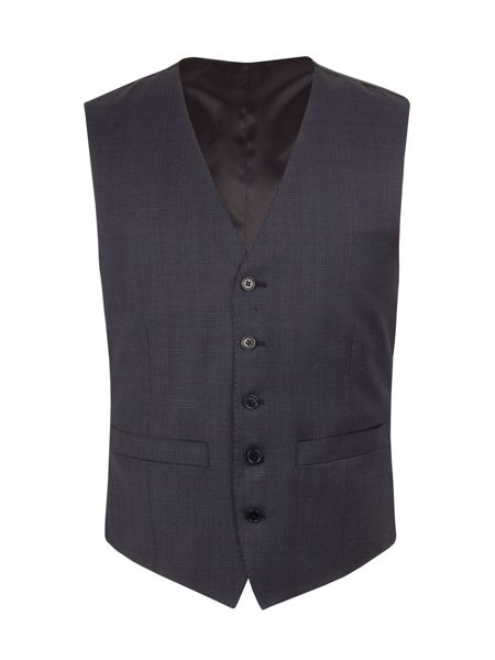 Alexandre of England Wool Overcheck Tailored Fit Waistcoat