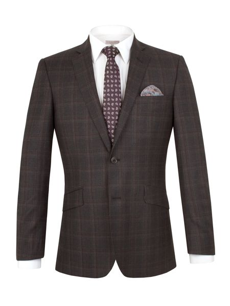 Alexandre of England Wool Check Tailored fit Suit Jacket