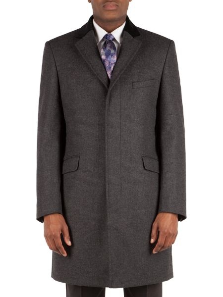 Alexandre of England Charcoal Small Effect Overcoat
