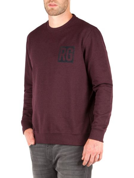 Racing Green Owen Flocked Logo Sweat