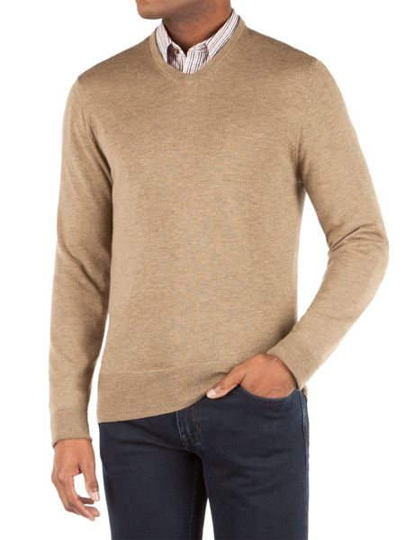 Racing Green Keats V-Neck Merino Jumper