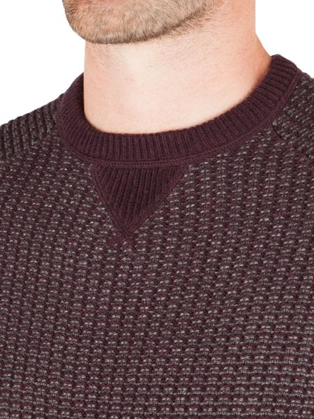 Racing Green Pembrooke Crew Neck Textured Knit