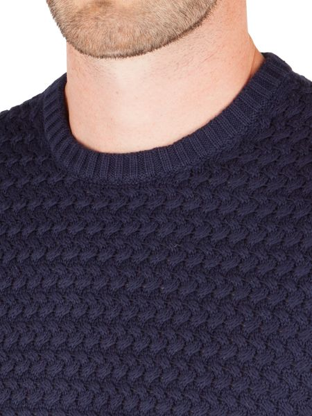 Racing Green Quaint Crew NeckTextured Knit Sweater