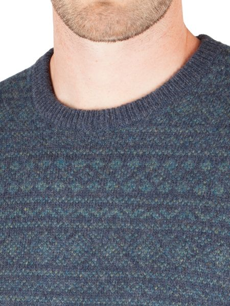 Racing Green Square All-Over Fairisle Sweater