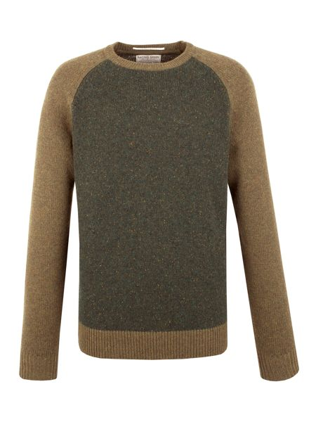 Racing Green Lion Lambswool Blend Crew Neck Knit