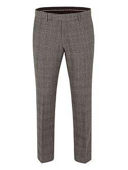 Wool Check Tailored Fit Suit Trouser