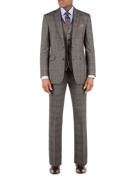 Alexandre of England Wool Check Tailored Fit Waistcoat