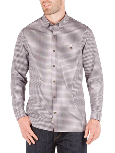 Racing Green Newton Small Check Shirt