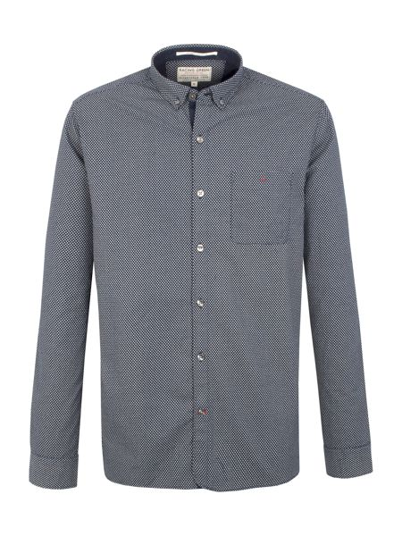 Racing Green Blackall Square Print Shirt