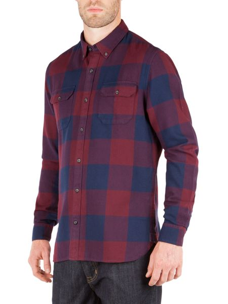 Racing Green Joseph Oversized Check Shirt