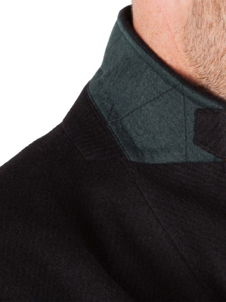 Racing Green Sett Wool Blend Smart Coat
