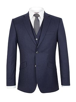 Flannel Tailored Fit Suit Jacket