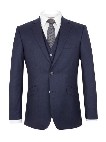 Alexandre of England Flannel Tailored Fit Suit Jacket