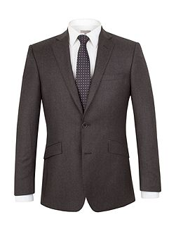 Flannel Stripe Tailored Fit Suit Jacket