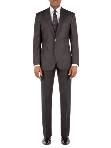 Alexandre of England Flannel Stripe Tailored Fit Suit Jacket