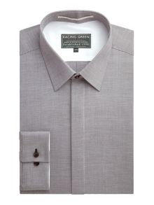 Racing Green Letter Semi Plain Formal Shirt