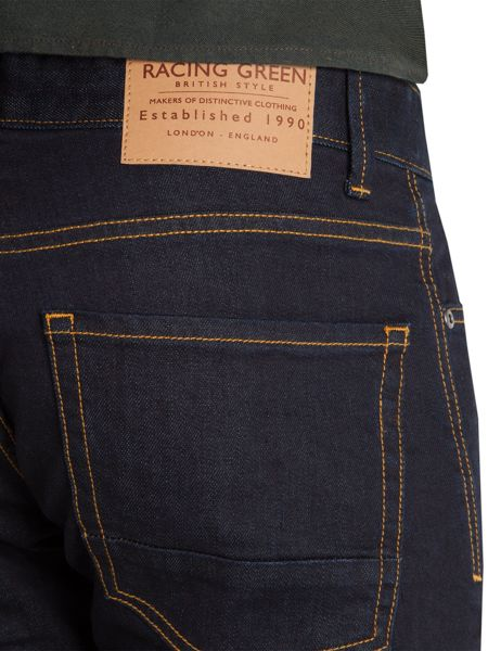 Racing Green Marr Slim Fit Indigo Rinsewash Jean