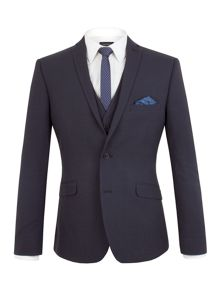 Limehaus Oliver Tonal Check Slim Fit Suit Jacket