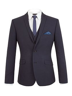Oliver Tonal Check Slim Fit Suit Jacket