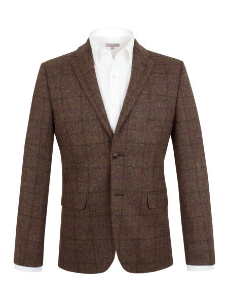 Alexandre of England Wool Check Formal Jacket