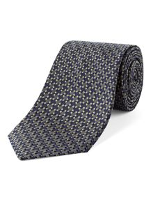 Alexandre of England Silk Dogtooth Check Tie