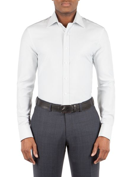 Alexandre of England Cotton Dobby Tailored Fit Shirt