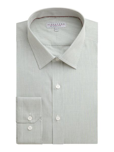 Alexandre of England Cotton Check Slim Fit Shirt