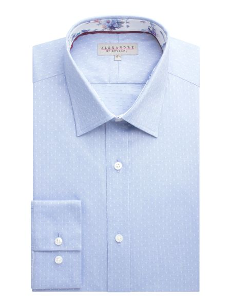 Alexandre of England Cotton Dot Tailored Shirt