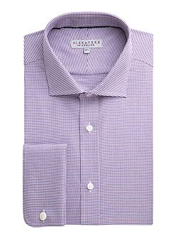 Cotton Puppytooth Tailored Shirt