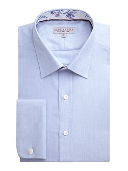 Cotton Textured Tailored Shirt