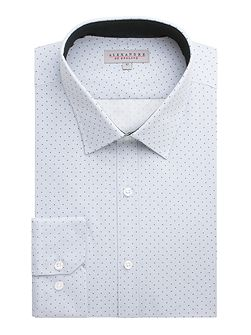 Cotton Spot Slim Fit Shirt