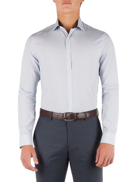 Alexandre of England Cotton Spot Slim Fit Shirt