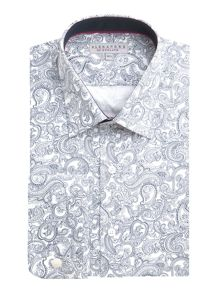 Alexandre of England Cotton Paisley Tailored Shirt