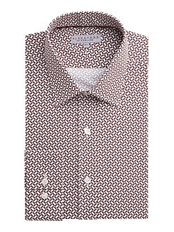 Autumn Geo Print Tailored Shirt