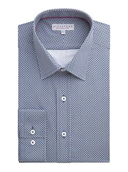 Cotton Geo Print Tailored Shirt
