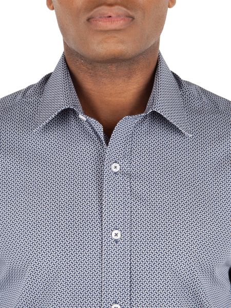 Alexandre of England Cotton Geo Print Tailored Shirt