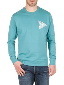 Racing Green Evans washed logo sweatshirt