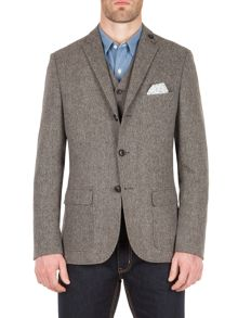 Racing Green Jose semi plain nep blazer