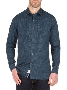 Racing Green Wade all over print shirt
