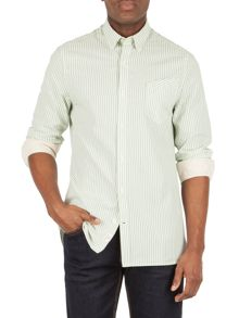 Racing Green Langley stripe shirt
