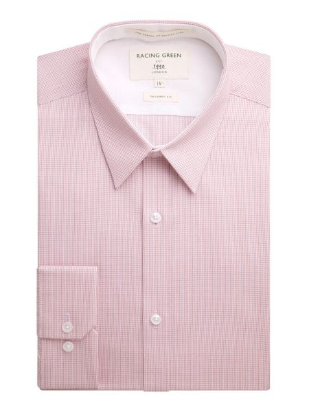 Racing Green Nelson micro check formal shirt
