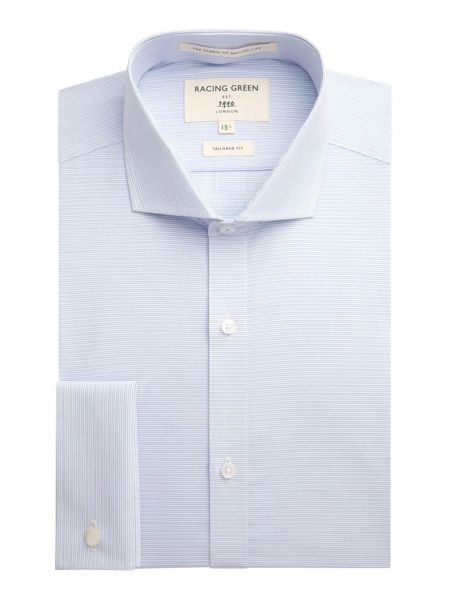 Racing Green Chandler horizontal stripe formal shirt